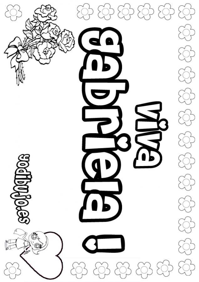 Dibujos para colorear gabriela - Nombres de ninos para colorear ...