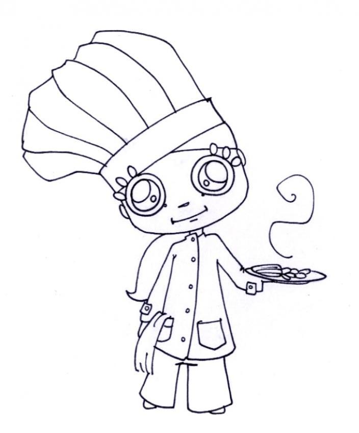 Los Cocineros En Ciernes 25 Dibujos De Oficios Y Trabajos