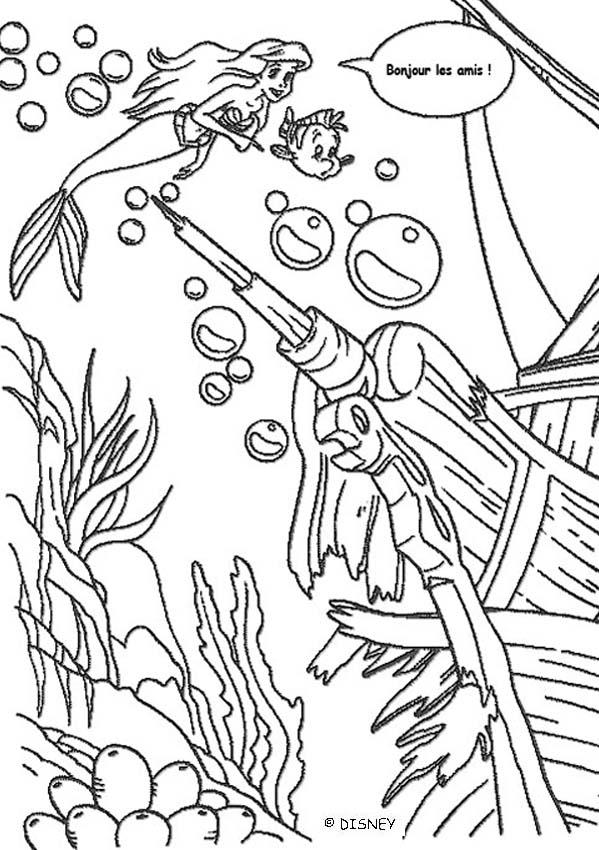 Dibujos para colorear el barco hundido  eshellokidscom