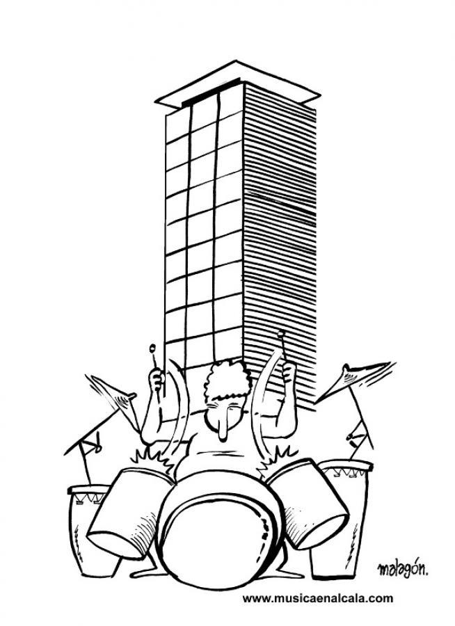 Dibujos Para Colorear La Bateria Suena En Torre Garena Es