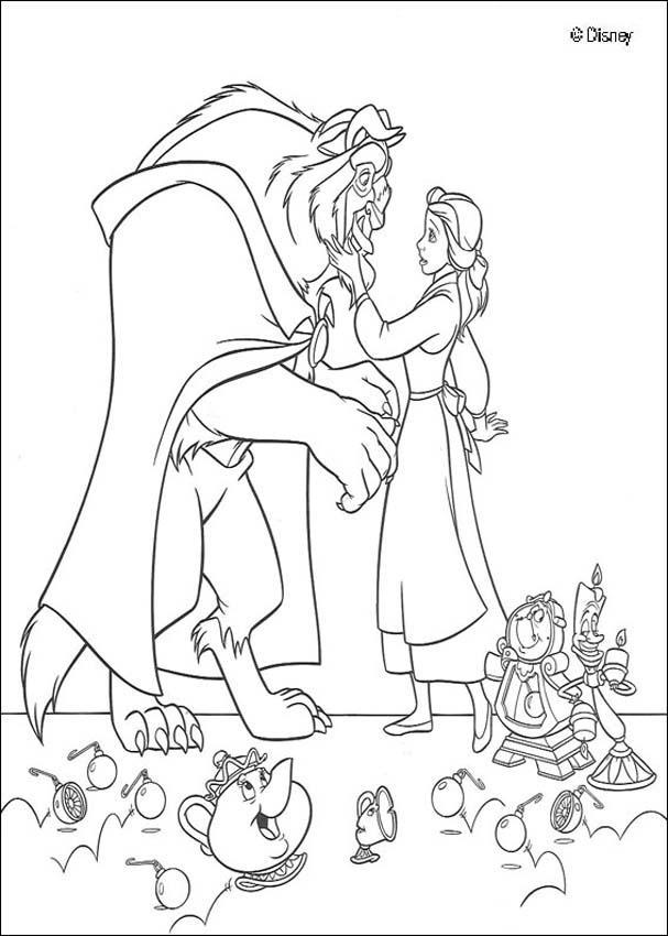 Dibujos para colorear bella y el príncipe azul disney - es.hellokids.com