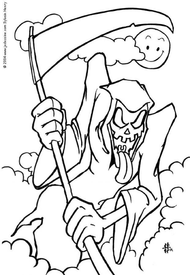 Dibujo para colorear : La muerte