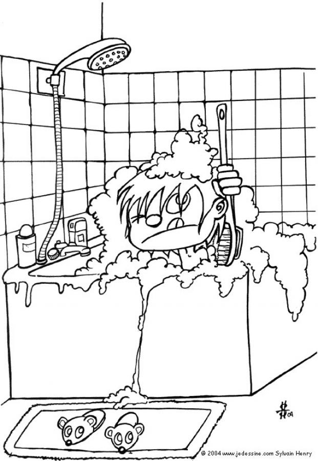 Imagenes De Un Baño Para Colorear:Bathroom Coloring Pages
