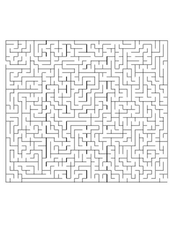 Página para imprimir : MUY MUY DIFICIL juego de laberinto
