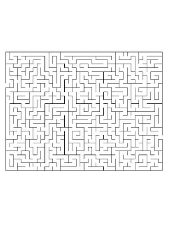 Página para imprimir : CONCENTRACION juego de laberinto dificil