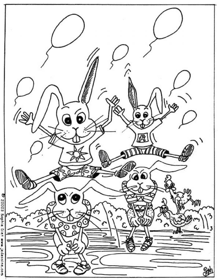 Dibujos para colorear conejitos  eshellokidscom