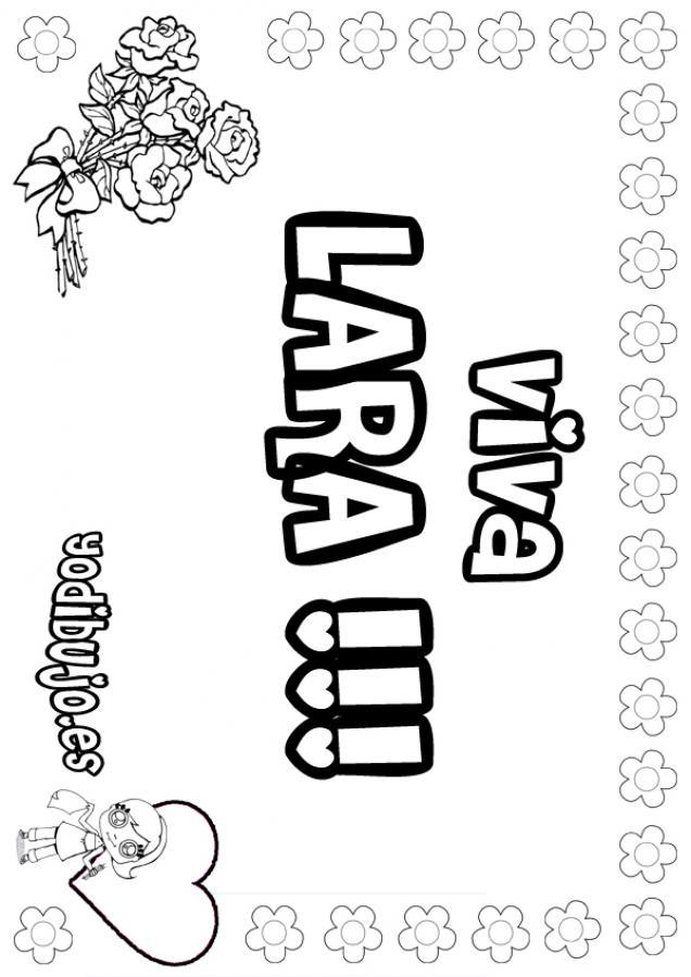 Nombre de niña para pintar : LARA