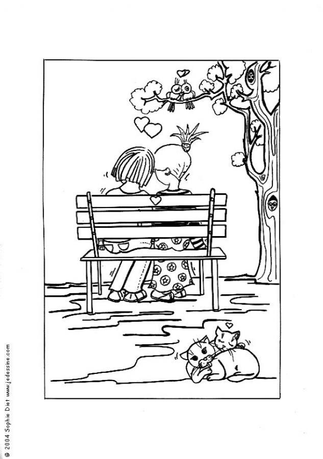 amor y amistad para colorear. amor y amistad dibujos. amor y