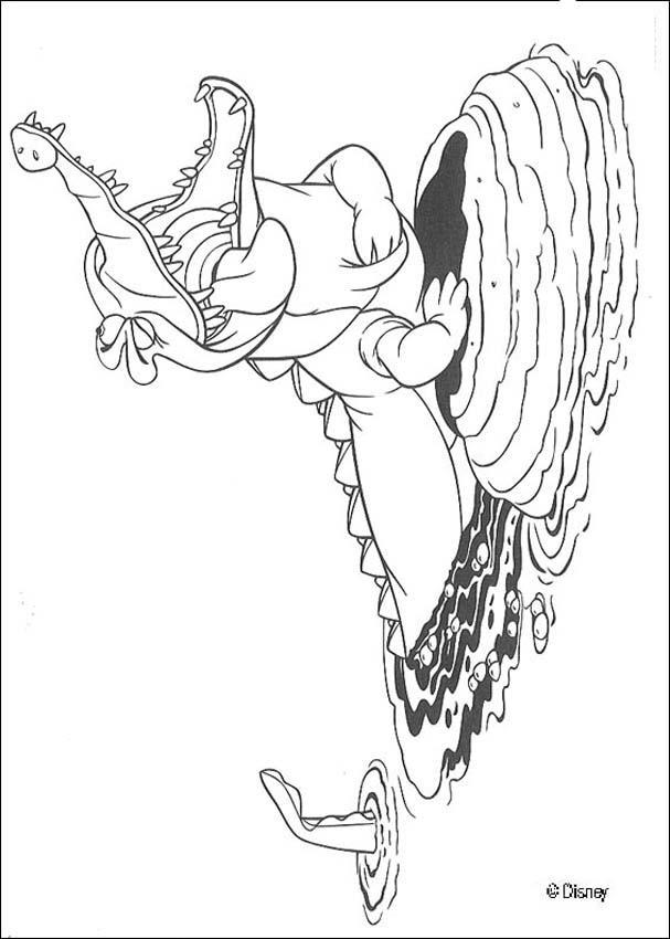 Dibujos para colorear el cocodrilo - es.hellokids.com