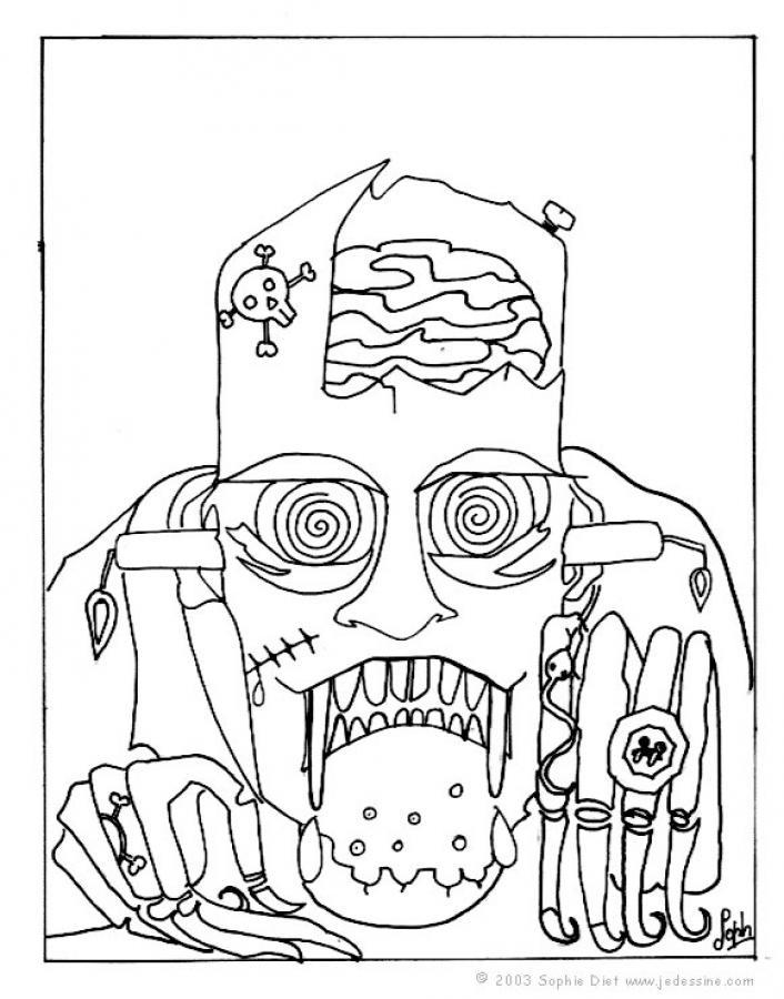 Dibujos para colorear Monstruos - 31 monstruos para Halloween