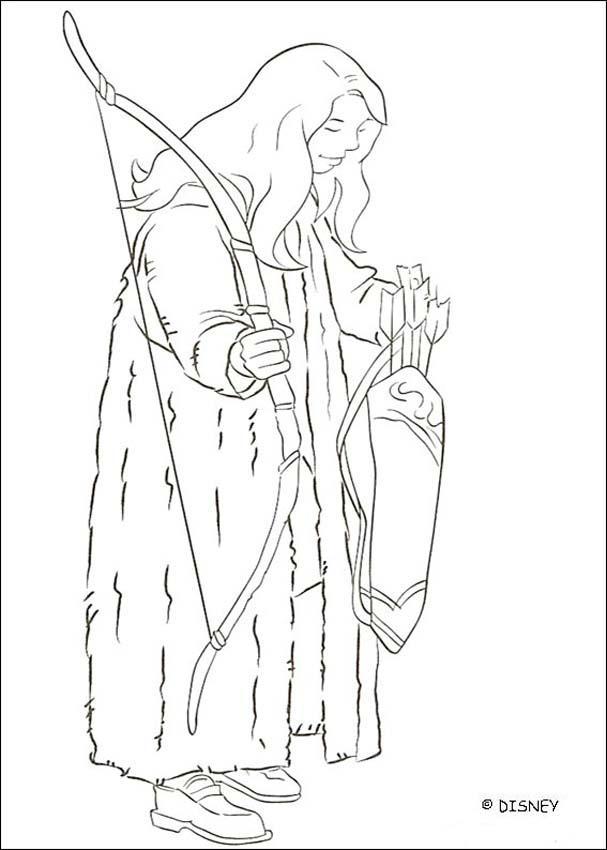 Dibujos para colorear LAS CRONICAS DE NARNIA, Susan Pevensie para ...