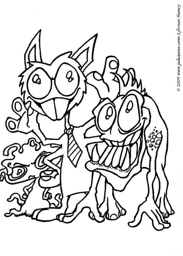 Dibujo para colorear : El monstruo con corbata