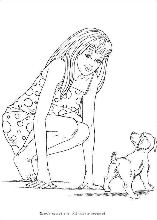 Dibujos para colorear barbie - es.hellokids.com