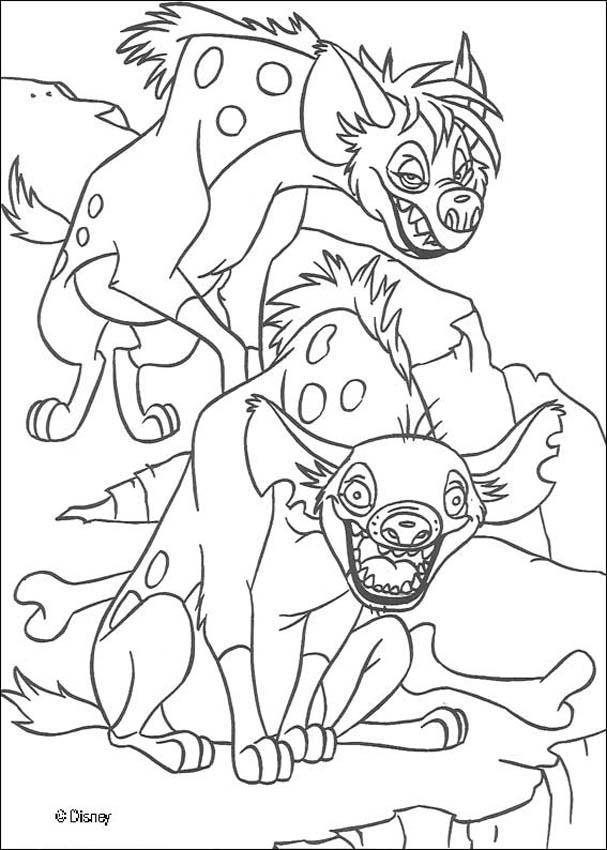 Dibujos para colorear las hienas locas - es.hellokids.com