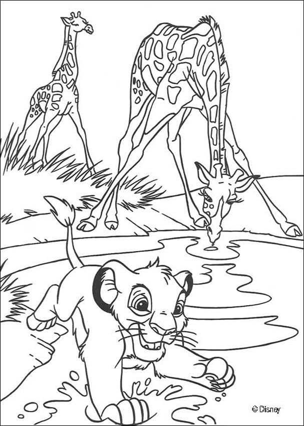 Dibujos para colorear jirafas  eshellokidscom