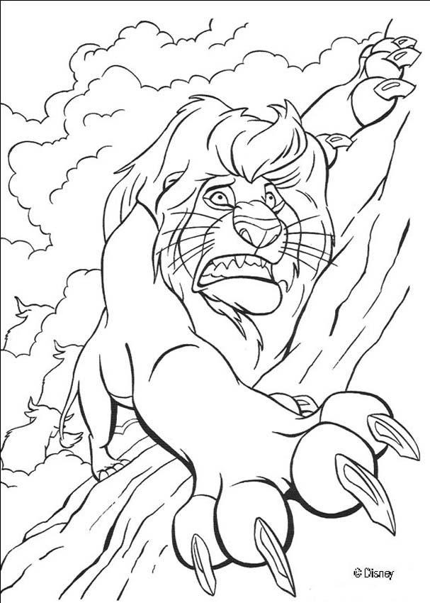 Dibujos para colorear el rey león 59 - es.hellokids.com