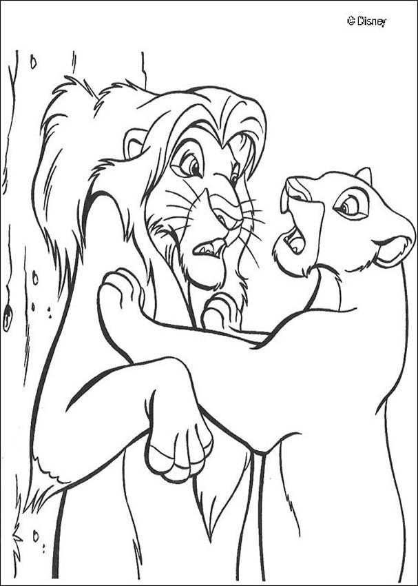 Dibujos para colorear el rey león 83 - es.hellokids.com
