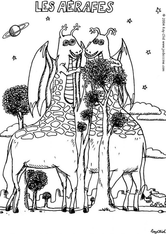 Dibujos para colorear monstruo jirafa  eshellokidscom