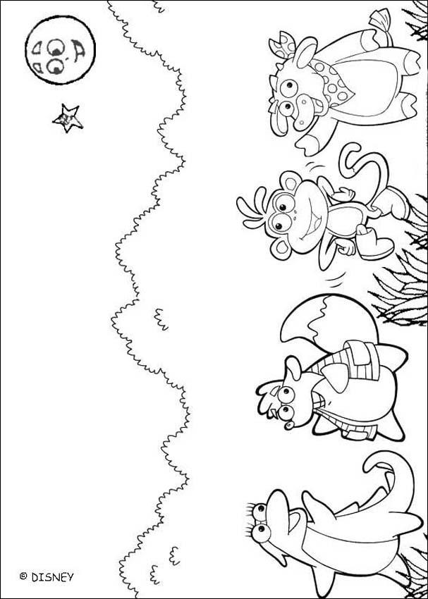 Dibujo para colorear : Los amigos de Dora