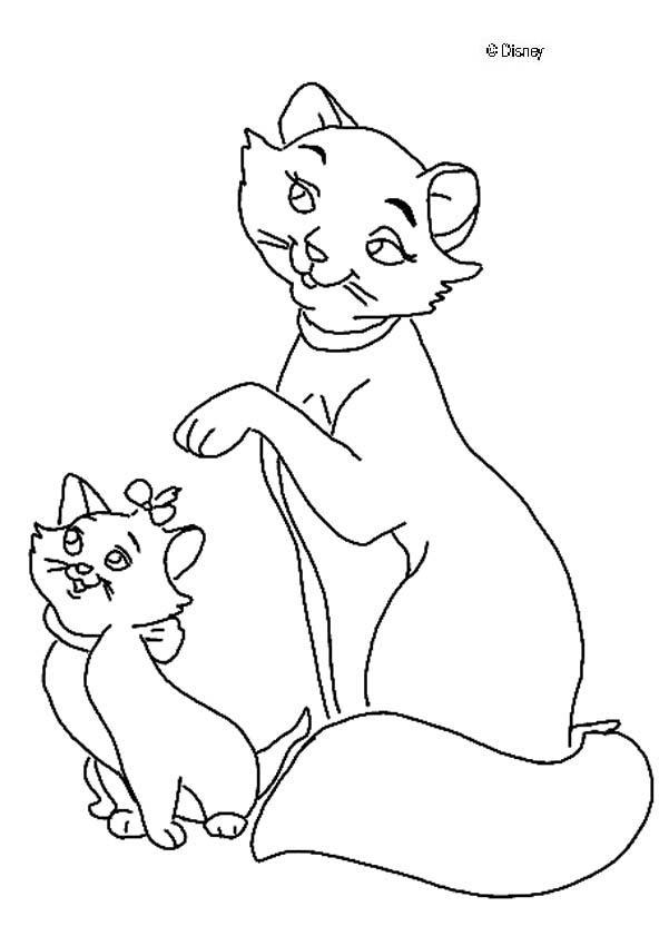 Dibujos para colorear duquesa con su hija - es.hellokids.com