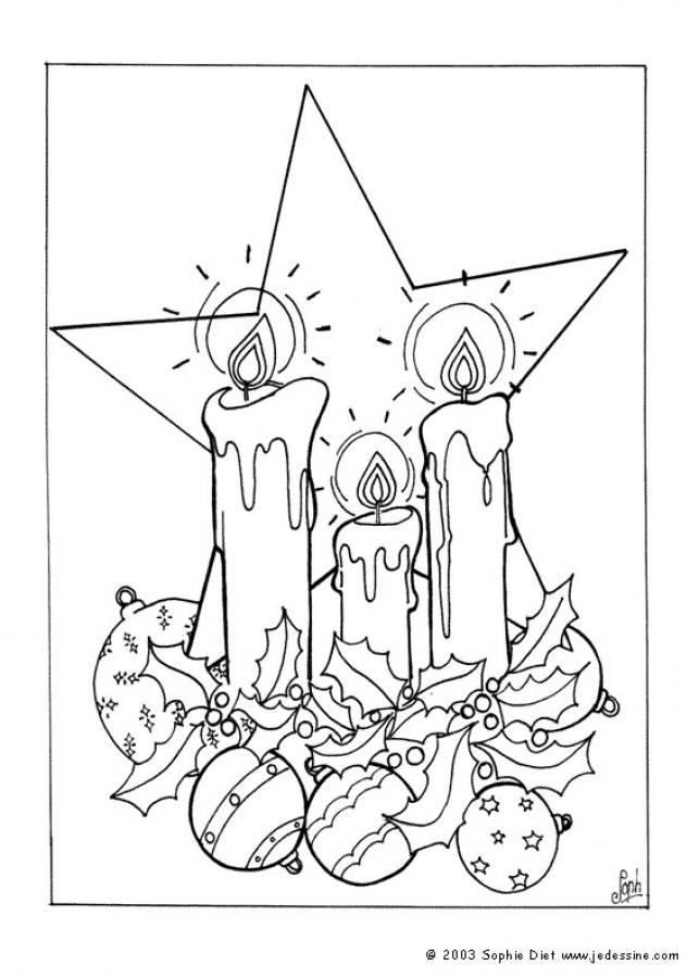 Dibujo para colorear : Las velas