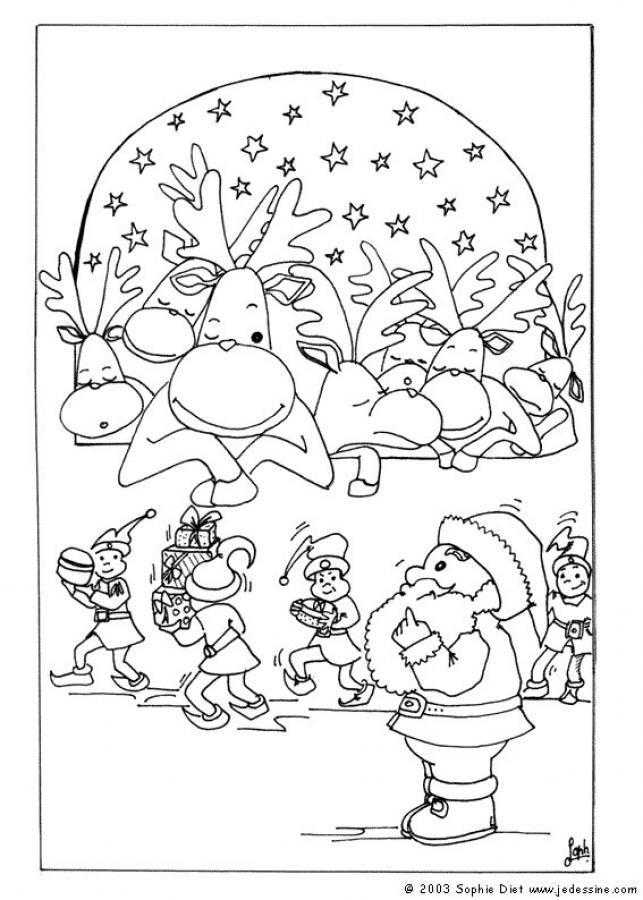 Dibujos para colorear rodolfo el reno - es.hellokids.com