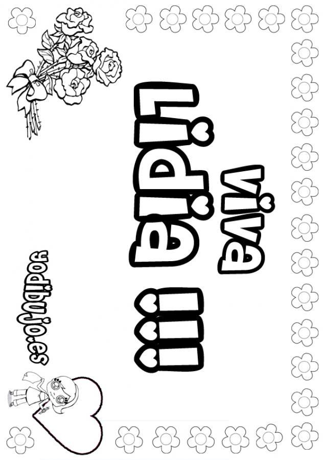 Dibujos para colorear lidia - es.hellokids.com