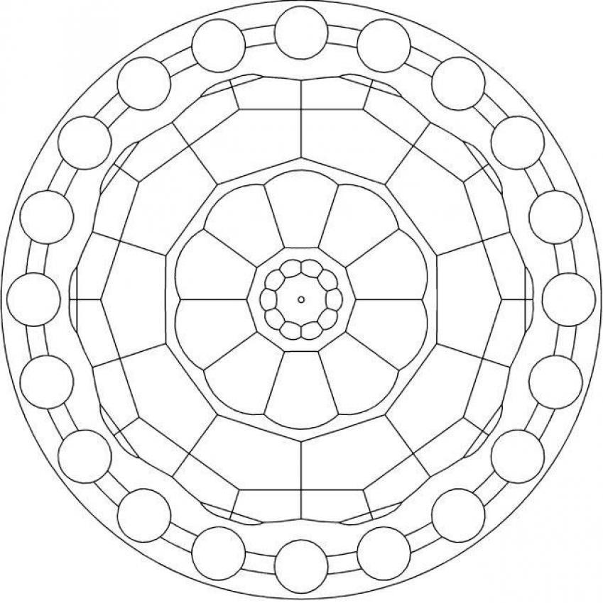 Dibujos Para Colorear Rosetón Clásico Eshellokidscom