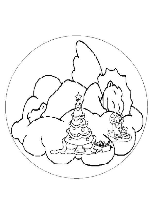 Dibujos para colorear mandala campanas de navidad - es.hellokids.com