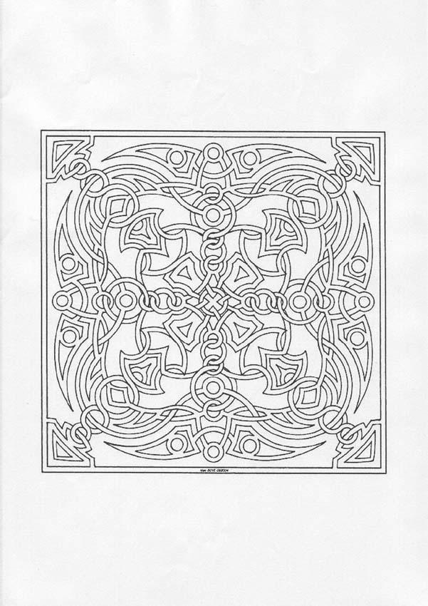 Dibujos para colorear mandala formas geométricas - es.hellokids.com