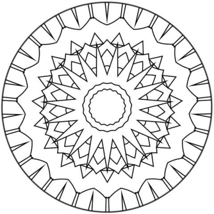 Dibujo para colorear : Mandala Rayos de Sol