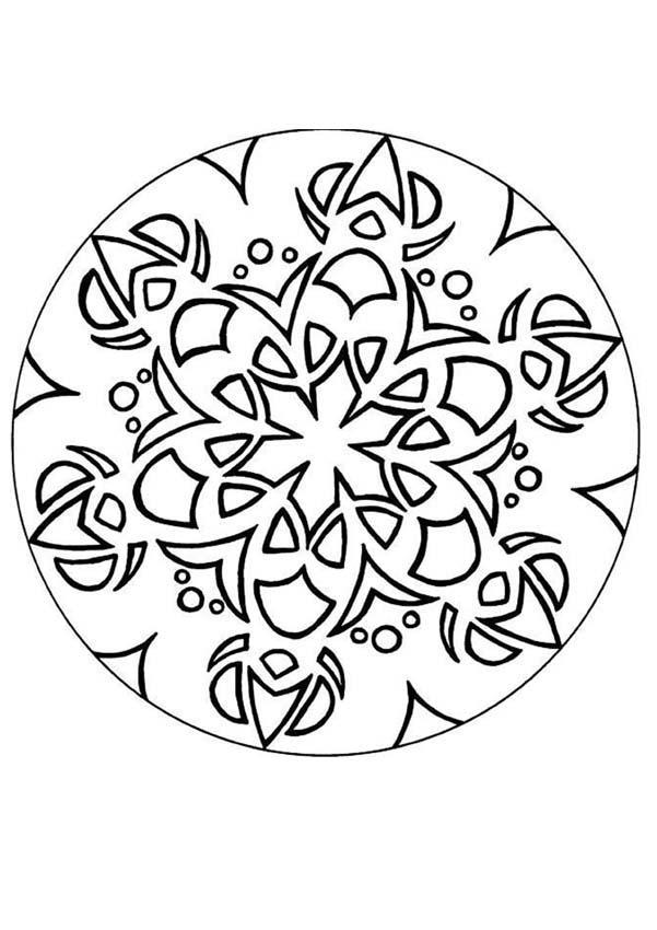 Dibujo para colorear : Mandala al revés