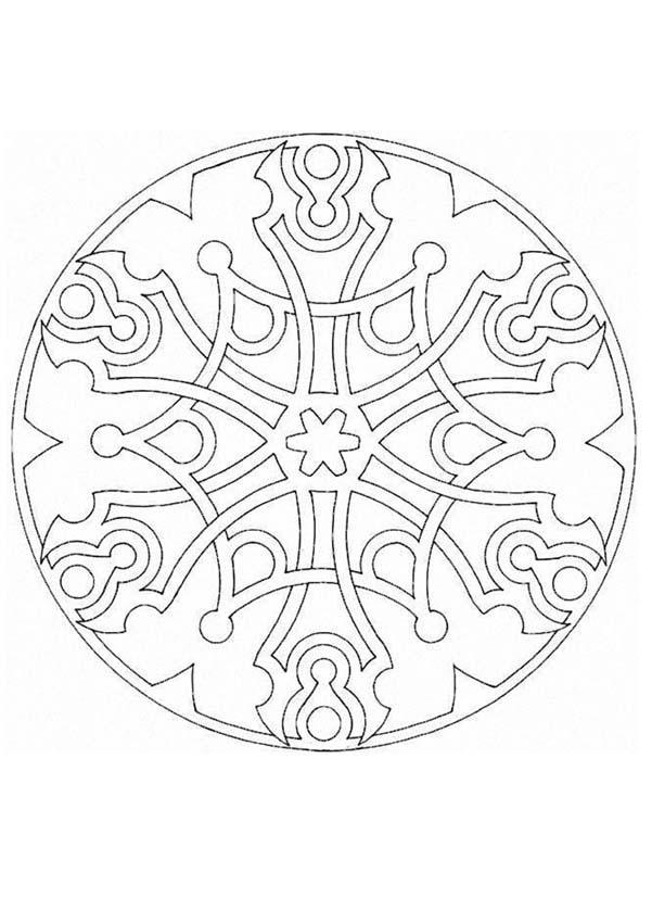 Dibujo De Mandala Celta Con Cara De Le N Para Colorear Dibujos Con ...