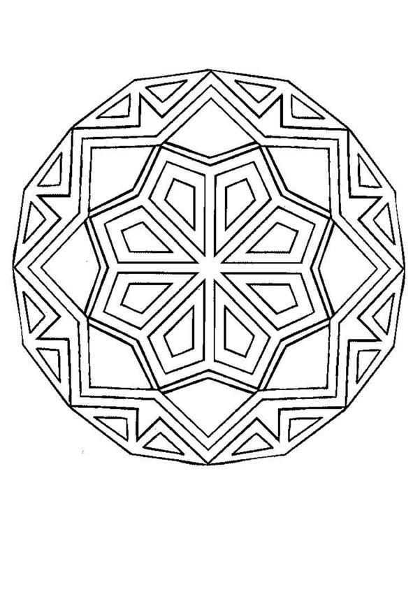 Dibujos Para Colorear Mandala Formas Geométricas Eshellokidscom
