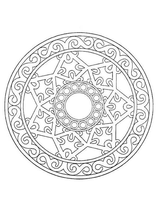 Dibujos para colorear mandala azteca - es.hellokids.com
