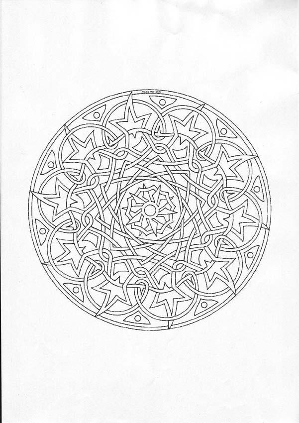 Dibujo para colorear : Mandala de Navidad