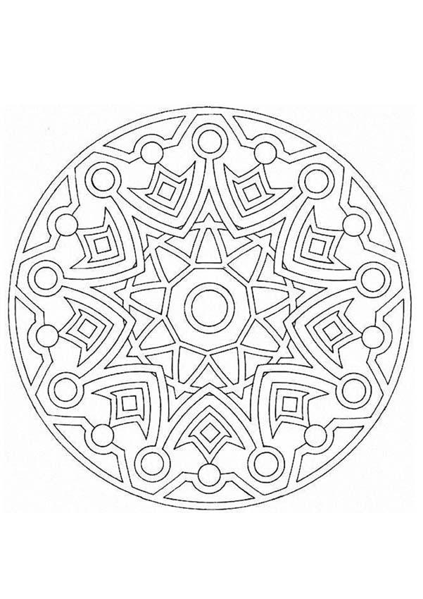Fantástico Diseño De Círculo Para Colorear Imágenes - Dibujos Para ...