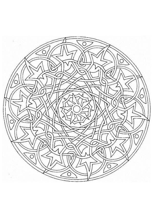 Dibujo para colorear : Mandala Universo