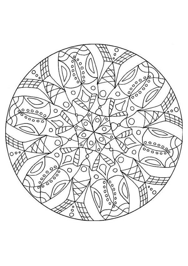 Dibujos Para Colorear Mandala Visión Acuática Eshellokidscom