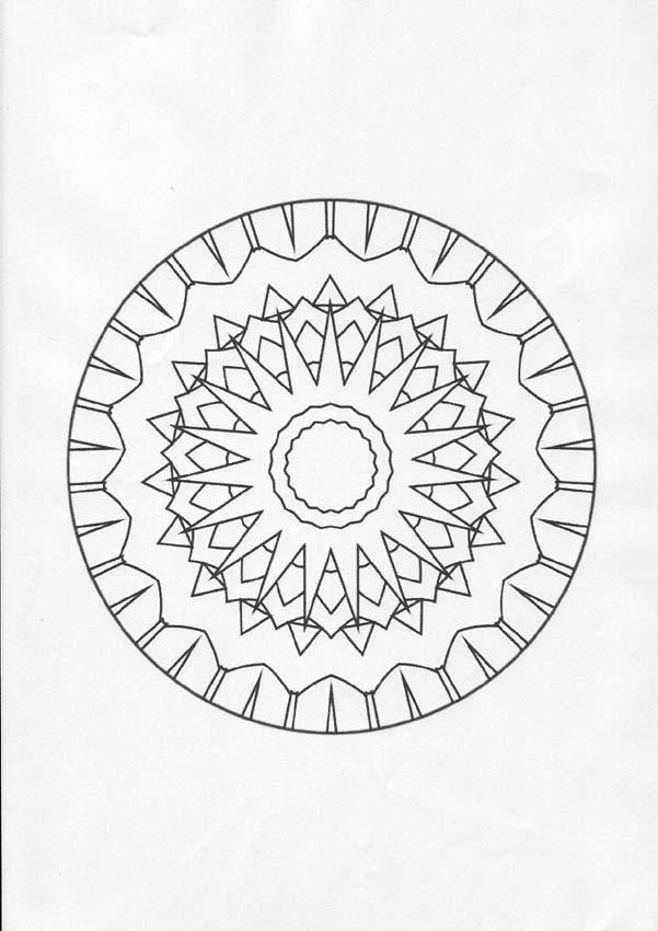 Dibujos para colorear mandala luna llena y sol  eshellokidscom