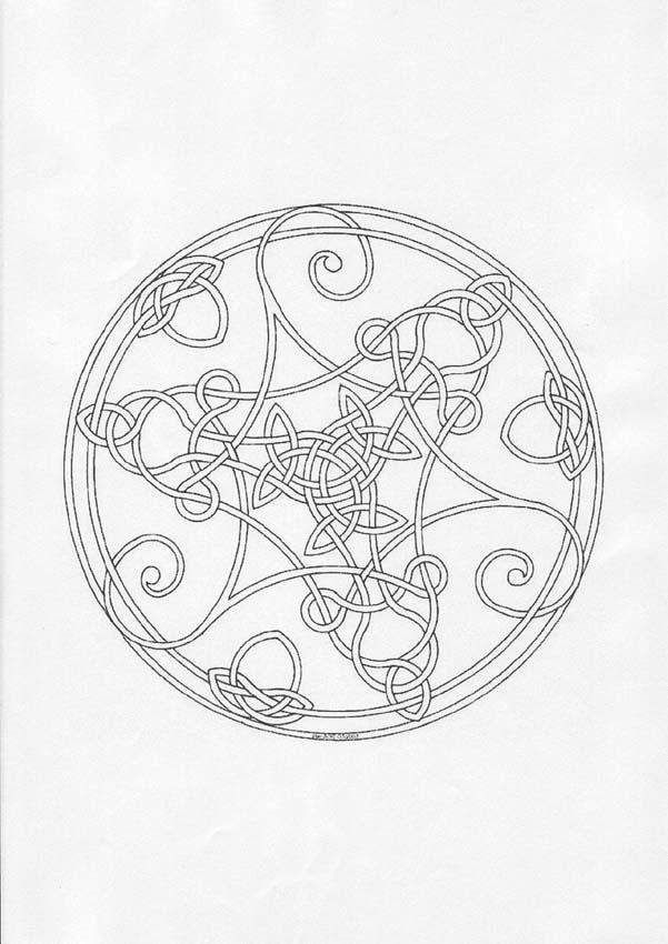 Dibujo para colorear : Mandala Tricornio