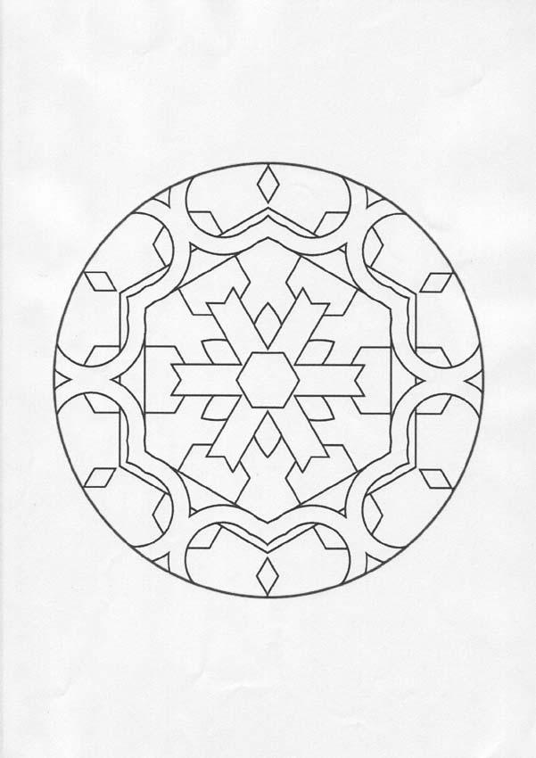 Dibujo para colorear : Mandala Símbolo de la nieve