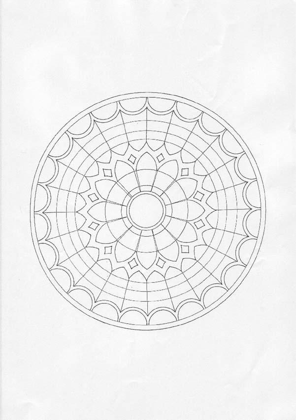 Dibujo para colorear : Mandala vitral