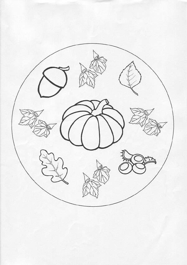 Dibujos Para Colorear Mandala Otoño Eshellokidscom
