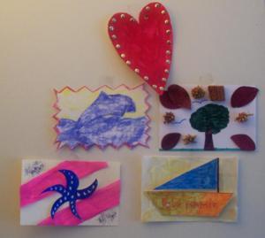 Manualidad infantil : Fabricar tus postales