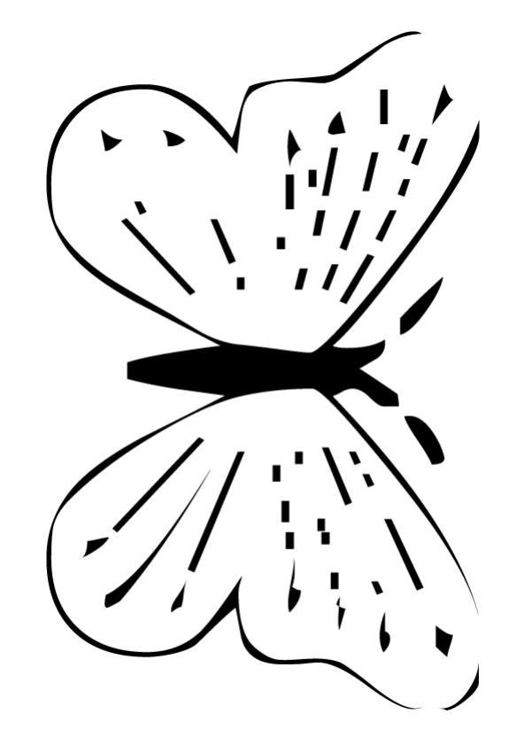 Dibujos para colorear mariposa monarca - es.hellokids.com
