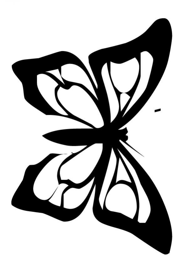 una mariposa rosada Dibujo de MARIPOSA SEDUCTORA Dibujo mariposa ...