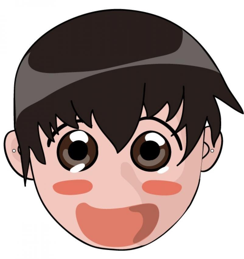 máscara-de-un-niño-tipo-manga