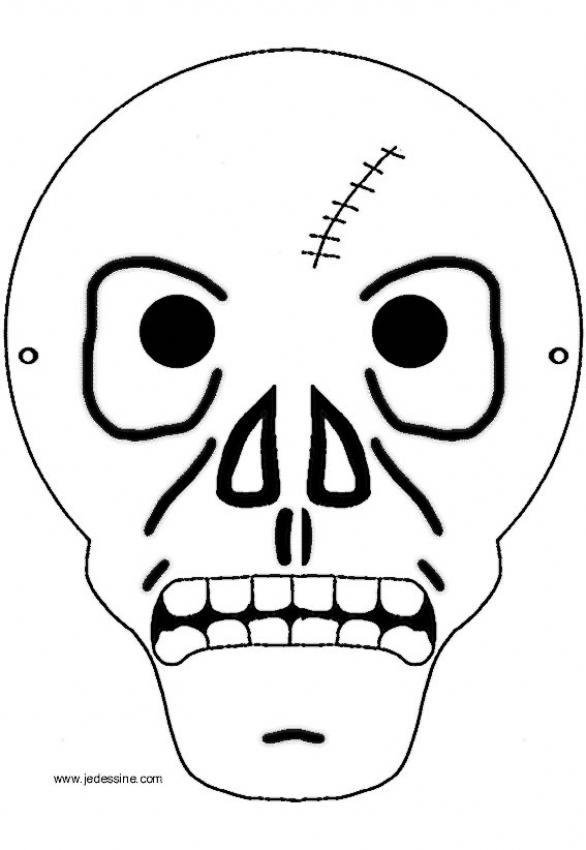 Máscara de calavera para pintar - Mascaras Halloween para niños