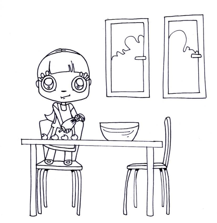 Dibujos para colorear merengue - Dibujos de cocina para pintar ...